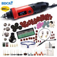 BDCAT 6mm 400W כוח מיני חשמלי תרגיל חרט עם 6 עמדה משתנה מהירות של Dremel רוטרי עם גמיש פיר