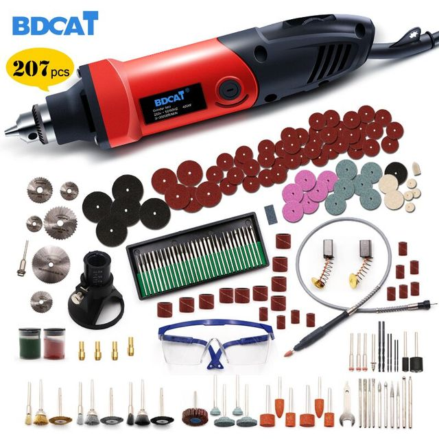 BDCAT 6mm 400W Power Mini Electric Drill Engraver With 6 Position Variable Speed Of Dremel Rotary Tools With Flexible Shaft