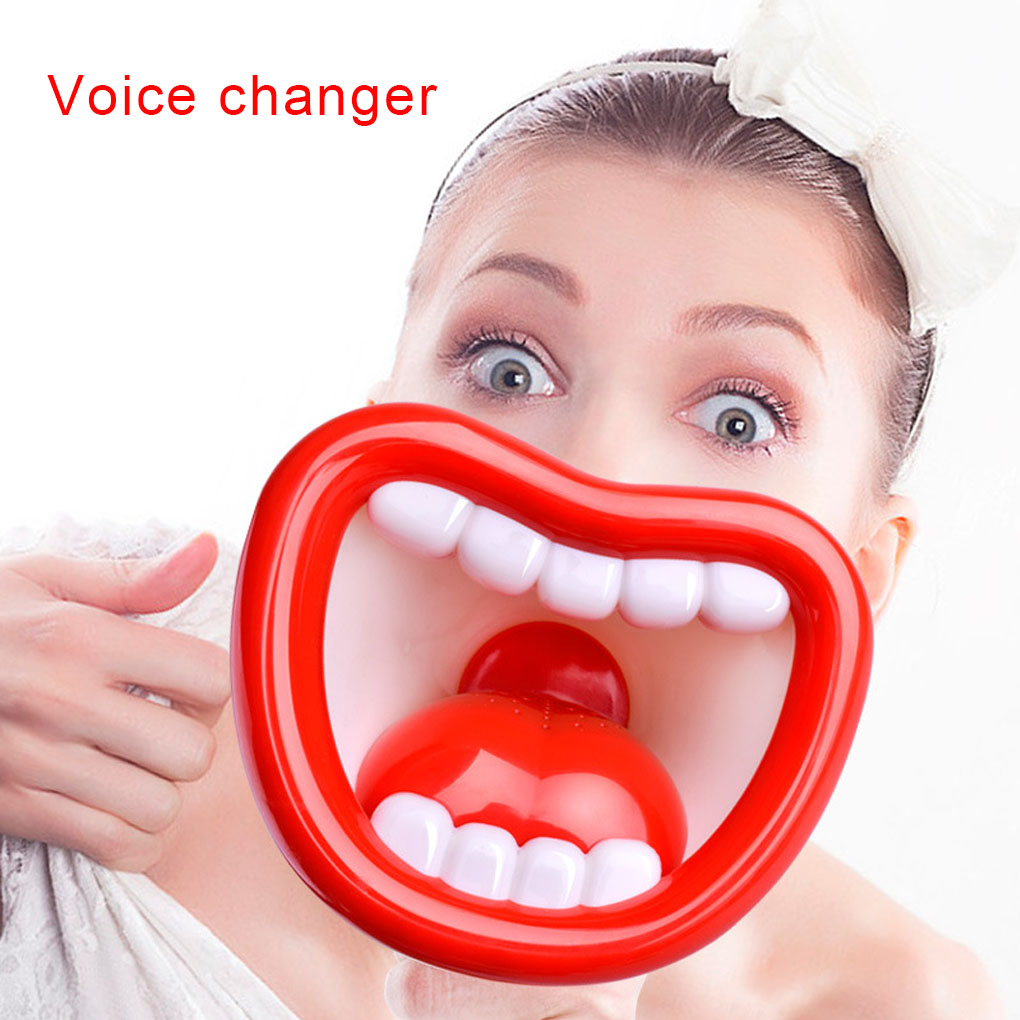 Big Mouth Funny Megaphone Recording Toy Kids Voice Changer Children Speaker Handheld Mic Vocal Toys Random Color image