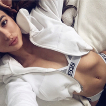 цены на Women Long Sleeve Hoody Hoodie Casual Zip-up Short Pullover Autumn Hooded Sweatshirts Coats в интернет-магазинах