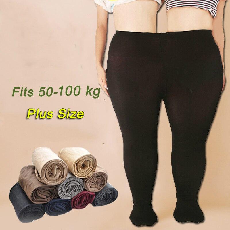 680D Women Pantyhose Plus Size Winter Autumn Spring High Waist Velvet Tear Resistant Sexy Black Fashion Tights Of Large Sizes