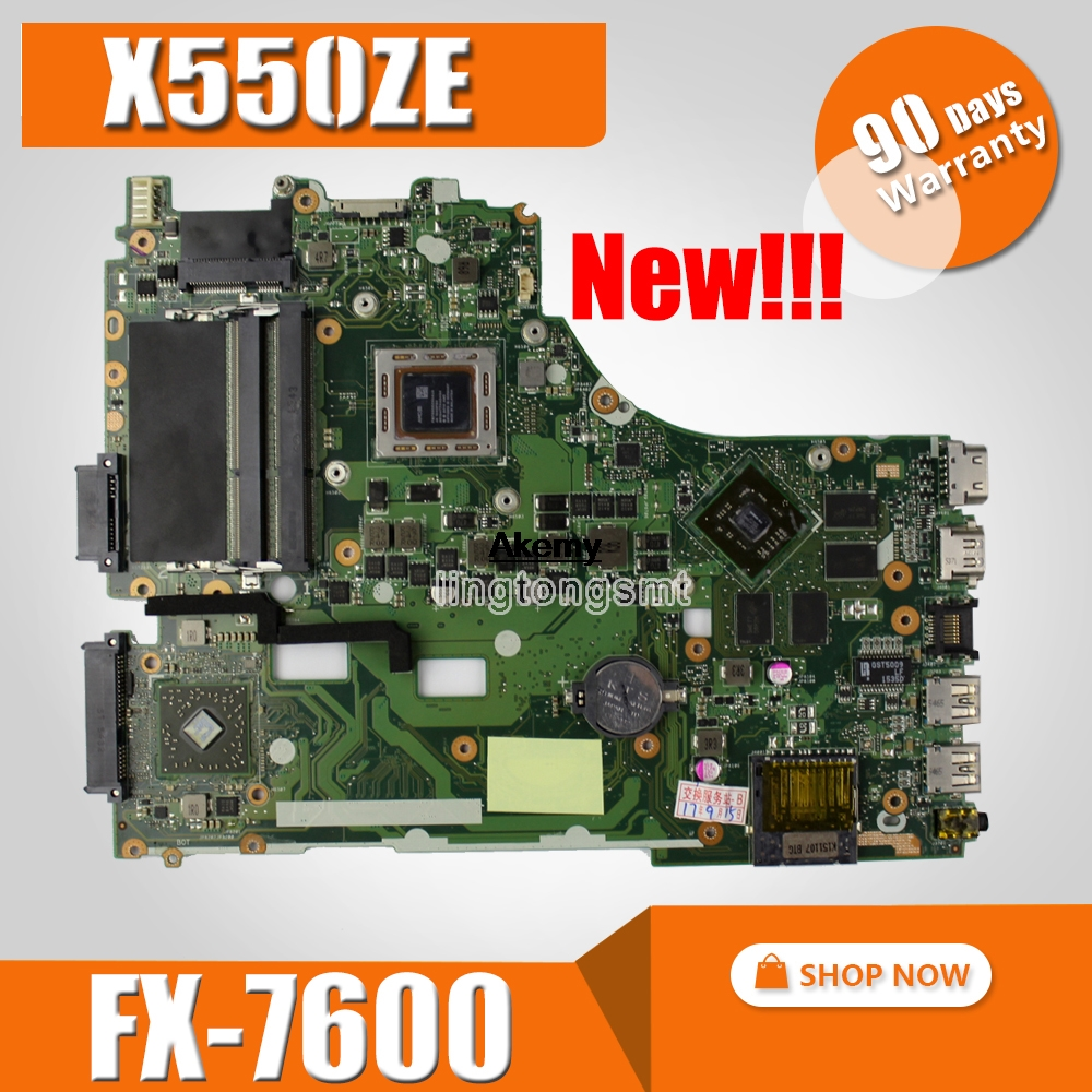 Mainboard Lvds-Interface PM X550Z ASUS FX7600 Laptop for X550za/X550z/Vm590z/.. 90nb06y0-R00050tested