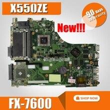 X550ZE FX7600 CPU interfaccia LVDS intel PM mainboard Per For Asus X550ZA X550Z VM590Z K550Z X555Z scheda madre Del Computer Portatile 90NB06Y0-R00050Tested