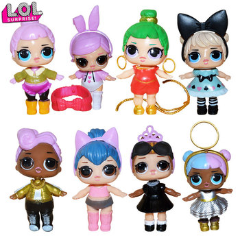 цена на 8pcs/set lol Surprise Doll Ornaments Toys Confetti Glitter Series Action Figures Anime for Kids Birthday toys dolls for girls