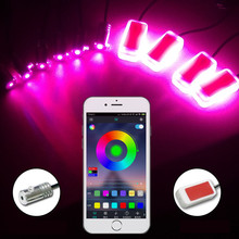 цена на Car Light Interior LED 12V Atmosphere Lamp Decorative Decoration Car LED Floor Foot Light Flexible Strip Ambient Lights