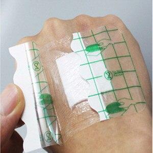 Image 4 - 10 adet 6x7cm 6x10cm su geçirmez yapışkanlı bandaj tıbbi yapışkan yara pansuman malzemesi bant yardım bandajı büyük yara ilk yardım açık