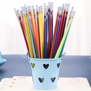 12,24, 36,48 Цвета флэш-шариковая ручка геля Выделите пополнить Красочные Сияющий пополнения живопись шариковая ручка рисунок ручки 04116