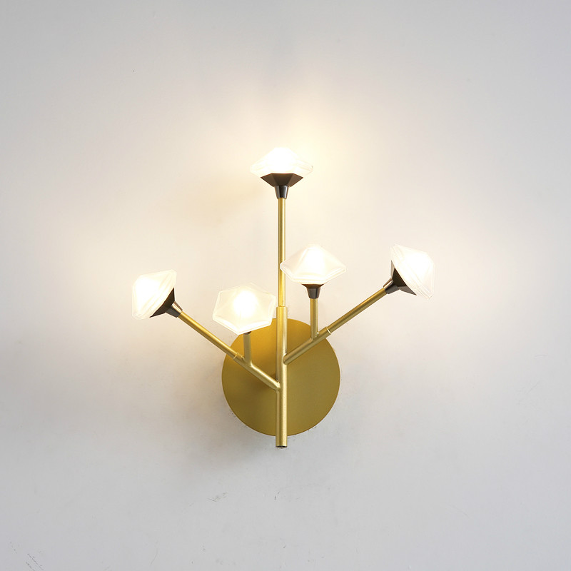 Nordic Wall Lamp Fixture Simple Bedroom Bedside Staircase Hallway Creative Wall Sconce Luxury Background Bathroom Led Wall Light - 5