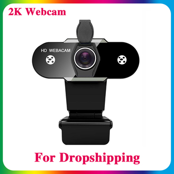 HD 1080P Webcam 2K Computer PC Web Camera with Microphone for Live Broadcast Video Calling Conference Workcamara web para pc