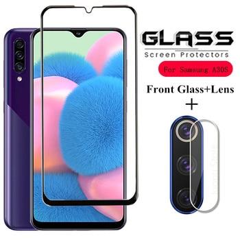 2 in 1 Tempered Glass for Samsung A30S A30 A70 A50S A50 A20 A40 Camera lens Protector for Samsung Galaxy A30S A50 A10 glass film