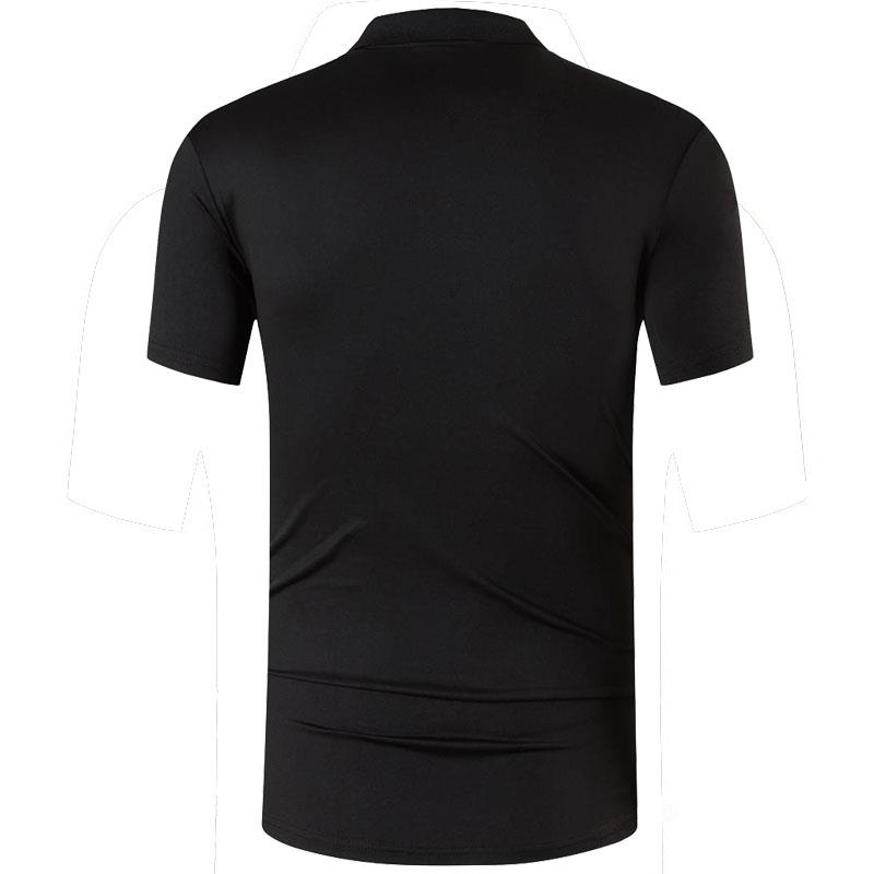 jeansian Men 39 s Sport Tee Polo Shirts POLOS Poloshirts Golf Tennis Badminton Dry Fit Short Sleeve LSL263 Black2 in Polo from Men 39 s Clothing