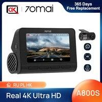 Nuovo arrivo 70mai Dash Cam 4K A800S GPS incorporato ADAS Real 4K UHD Cinema-qualità video 24H parcheggio per SONY IMX415 DVR