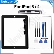 A1403 A1416 A1430 A1458 A1459 A1460 터치 스크린 디지타이저 패널 iPad 3 4 터치 스크린 및 테이프 및 프레임 접착제 및 도구