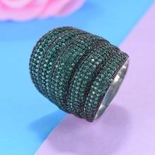 LARRAURI 2020 Luxury Wedding Engagement Dubai Bridal Finger Ring Jewelry Wide Stackable Geometry Cubic Zironia Rings For Women цена и фото