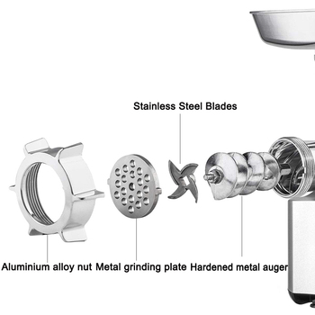 Heavy Duty 3000W Max Powerful Electric Meat Grinder Home Sausage Stuffer Meat Mincer Food Processor 5