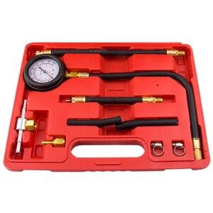 Image 2 - 0 100 Psi Gasoline Engine Compression Gauge Tester Automobile Petrol Gas Engine Cylinder Pressure Test Tool Kits