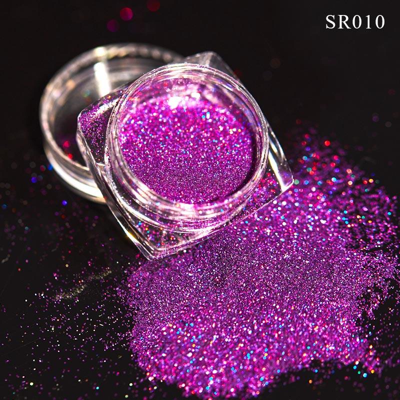 Волшебное зеркало блеск для ногтей Dip порошок Сияющий хром пигмент пыль голографическое искусство ногтей Маникюр УФ пудра для ногтей гель лак - Цвет: VQ01711