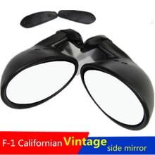 California Style Universal Car Classic Retro Door Wing Side Mirror Rearview Vintage Matte Black L+R шлем для скейтборда pro tec classic matte brown retro