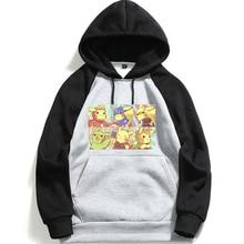 Avengers Marvel Hero Mens High Quality Long Sleeve Hooded Sweatshirt Pikachu Anime Hoodie Loose, Casual  Fitness