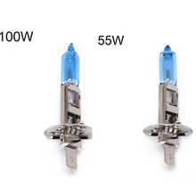 Fog Lights Bulbs White Light 5500k Auto Halogen Head Driving Fog Lamp DC12V 2Pcs 55W H1 Halogen Headlight Lamp(China)