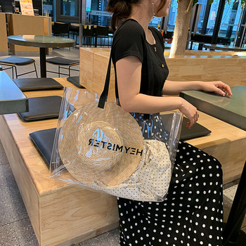Summer Transparent Jelly Bag Womens New Large Capacity Shoulder Waterproof Tote Handbag Shopping Big