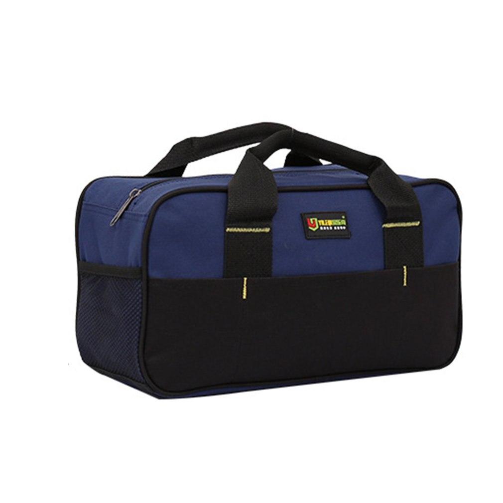 Large Capacity Tool Bags Handbag Waterproof Oxford Cloth Electrician Bag Plastic Bottom Men's Oblique Bag Tool