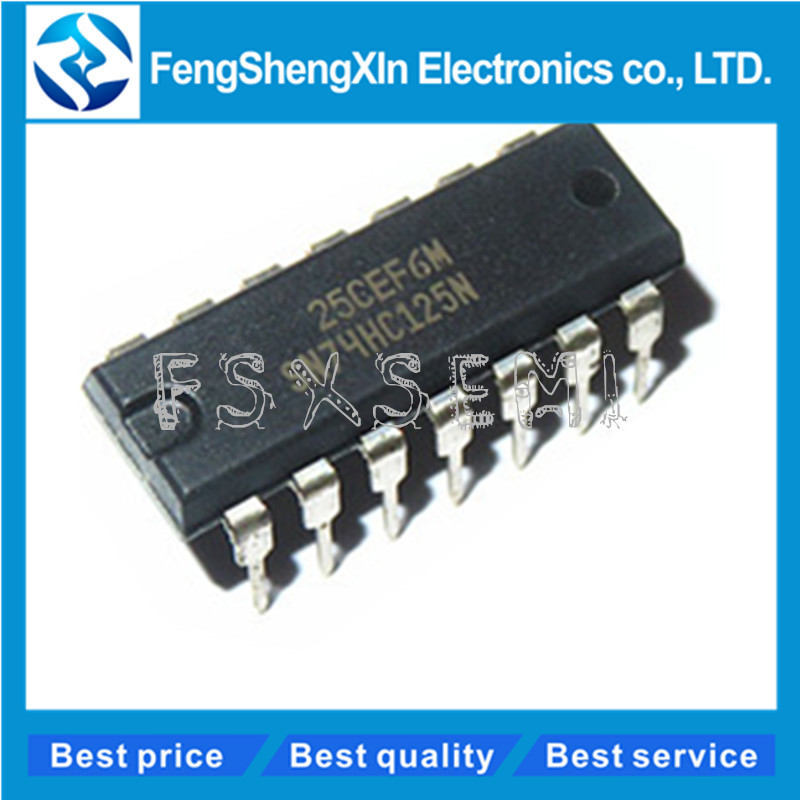 10pcs/lot New SN74HC125N <font><b>74HC125</b></font> Quad buffer line driver IC DIP-14 image