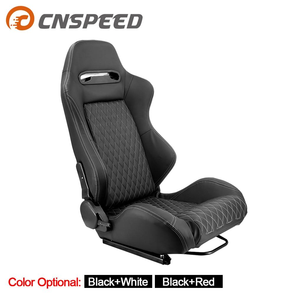 1 Pair Adjustable Racing Car Seat Universal For Sport Car Simulator Bucket Seats Black PVC Leather