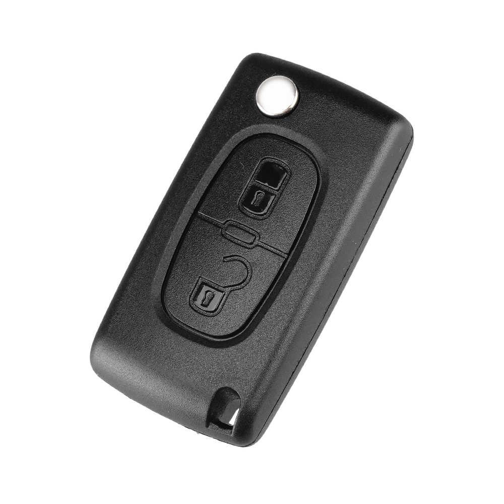 KEYYOU 2/3/4 BTN REMOTE Car Key กรณีเชลล์สำหรับ Citroen Coupe VTR C2 C3 C4 C5 C6 C8 berlingo Picasso Xsara สำหรับ Peugeot
