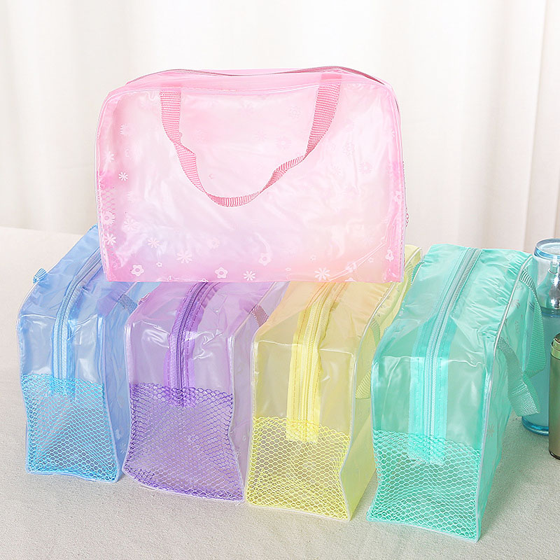 Multifunction Travel Cosmetic Bag Women Makeup Bags Toiletries Organizer Waterproof Female Storage Cases Pvc Transparent Bags