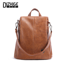 DIZHIGE Brand Fashion Genuine Leather Women Backpack High Quality School Bag For Teenager Girl Luxury Zipper Anti Theft