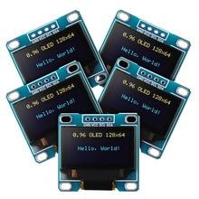5 قطعة 0.96 بوصة OLED وحدة 12864 128X64 الأصفر الأزرق SSD1306 سائق I2C IIC المسلسل الذاتي مضيئة عرض مجلس