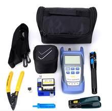 Atacado kit de ferramentas de fibra óptica ftth com medidor de potência óptica/vfl/fiber cleaver