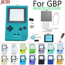 JCD DIY tam kılıf kapak konut kabuk değiştirme Gameboy cep oyun konsolu GBP kabuk durumda düğmeler kiti sınıf lens