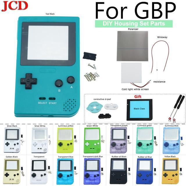 Полностью закрытый чехол JCD DIY, сменный корпус для карманной игровой консоли Gameboy для GBP, чехол с кнопками, объектив класса