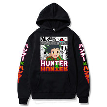 Hunter x hunter hoodie com capuz inverno camisolas kurapika gon freecss manga hoodies de algodão pullovers topos roupas masculinas