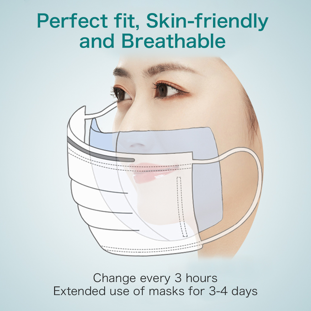 100 PCS/Bag Disposable Mask Pads Non-woven Cotton Masks Universal Filters Replaceable Filter Papers
