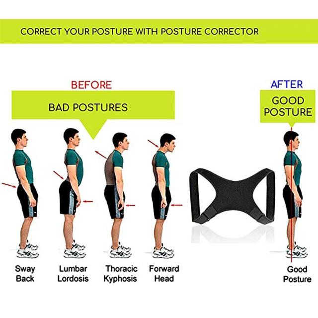 Adjustable Brace Support Belt Adjustable Posture Corrector Back Belt Posture Corrector Clavicle Spine Back Shoulder Lumbar 4