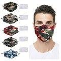 Зимняя камуфляжная маска для взрослых, маска для рта с 2 фильтром, моющаяся ткань, пылезащитная наружная защитная маска для лица mondkapjes
