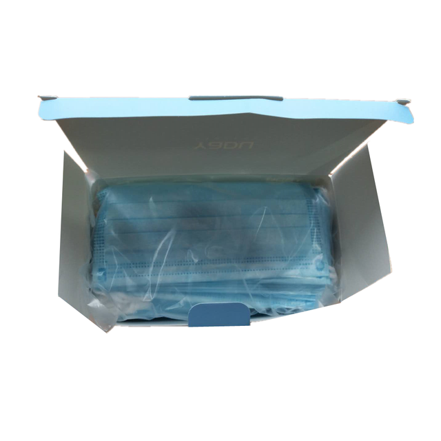 100 Pcs Blue Anti-Bacteria Disposable Surgical Masks Medical Protect Nose Mouth Masks 3-Ply Anti-PM2.5 Flu Dust-proof Face Masks 4