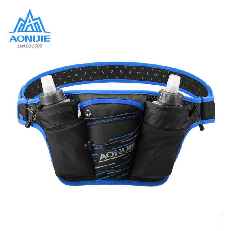 AONIJIE Waist Bag Running Hydration Belt Fanny Pack Jogging Cycling Bags With Free Water Bottle  Outdoor Camping Hiking