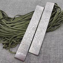 1 peça de fluxo de água padrão aço damasco para diy faca fazer vg10 sanduíche faca aço lâmina em branco foi tratamento térmico