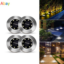 16 LEDs Ground Light Solar Powered Garden Landscape Lawn Lamp Buried Light Outdoor Road Stairs Decking light With light Sensor