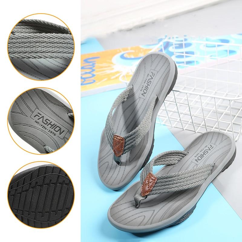 Men Flip Flops Summer Breathable Sandals Shoes For Men Non-slip Rubber Soles Slippers Fashion Outdoor Casual Shoes Big Size 47 4