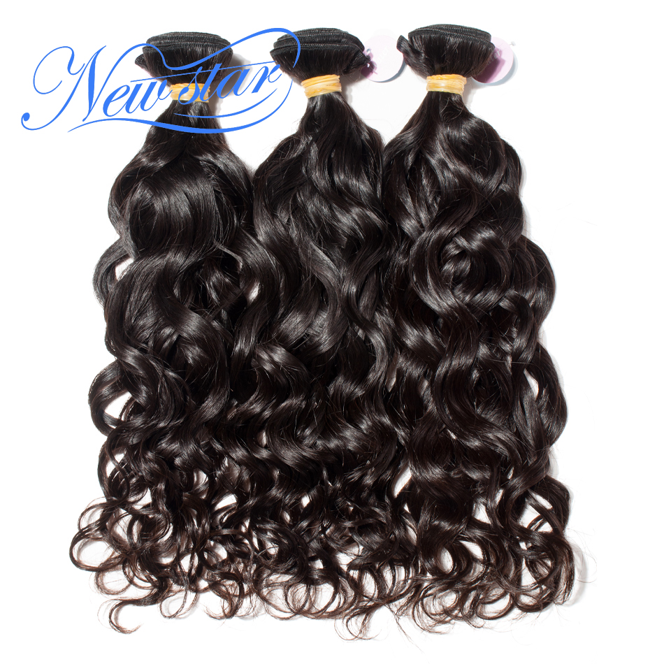 New Star Brazilian Natural Wave Virgin Human Hair 3 Bundle Thick Extension Intact Cuticle Unprocessed Natural Color Hair Weaving