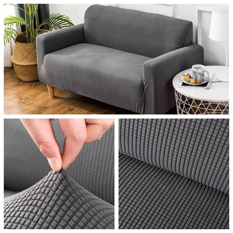 Capas de sofá de veludo para sala estar sólido secional capa de sofá elástico decoração para casa fundas sofá slipover qualidade superior