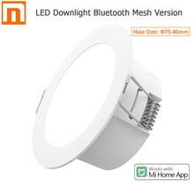 2021 Xiaomi Mijia Smart Led Downlight Bluetooth Mesh Version Controlled By Voice Smart Remote Control Adjust Color Temperature