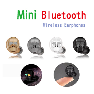 Беспроводные Bluetooth наушники с черепом и микрофоном, шумоподавление, Hi-Fi, свободные руки, бас, стерео, мини микро наушники