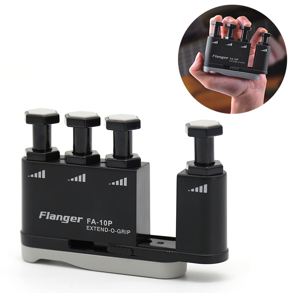 Guitar Finger Trainer Strengthener Training Device Piano Hand Grip Practice Musical Instrument Guitar Accessories Black