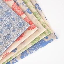 5 pezzi di carta per fiori colorati sottosmalto in ceramica adesivo blu e bianco 54x37cm carta per trasferimento di decalcomanie in ceramica ad alta temperatura